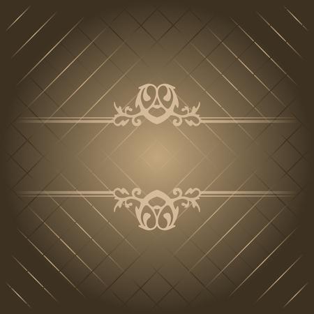Vector brown luxury background Stock Vector - 12928954