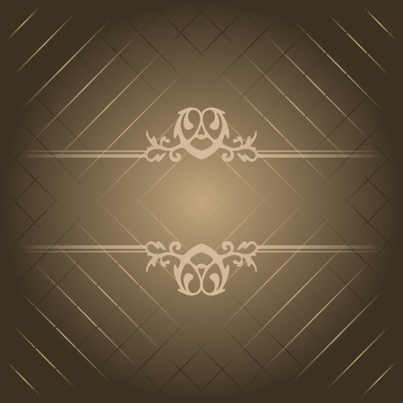 ornamented: Vector brown luxury background