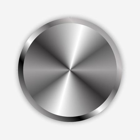 stereo: Vector illustration de bouton en chrome