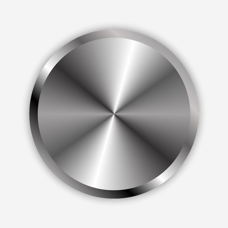 volume knob: Vector illustration of chrome knob