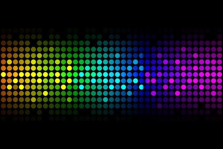 Vecteur de fond - lumières colorées