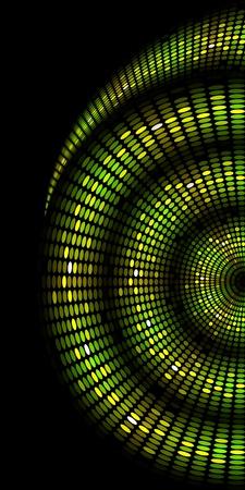 glowing skin: green skin of snake