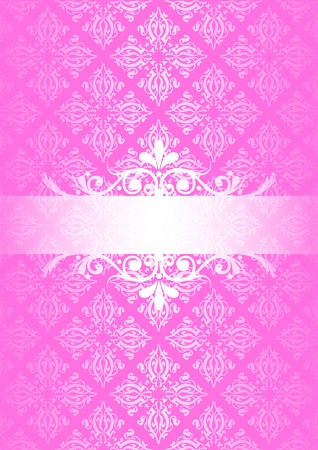 Vector pink vintage background Vector