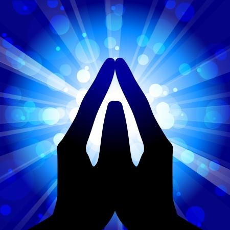 Gebed - vector illustratie