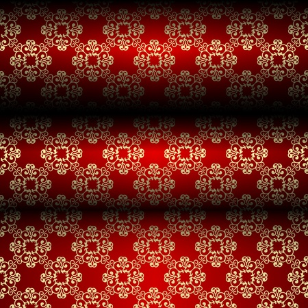 Red and gold material background Stock Vector - 12928960