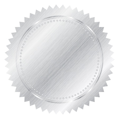 seal of approval: Vector silver seal