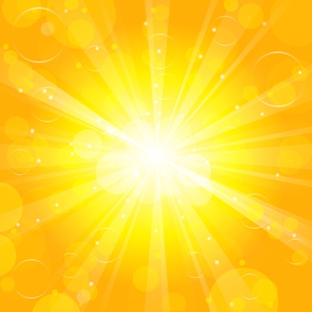 Sun - Vector background Vector