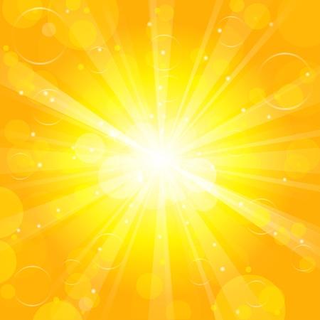 sun lit: Sun - Vector background