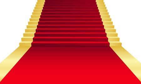 stair: Vector illustratie van rode loper