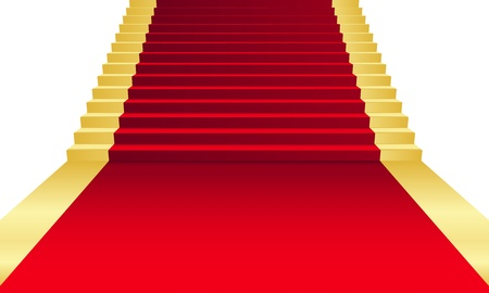 Vector illustration of red Carpet Illustration