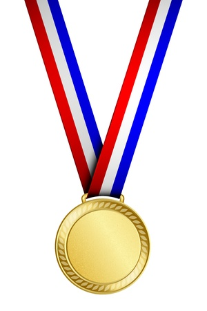 Vector illustration of gold medal Vector