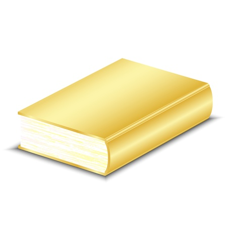 recipe book: Vector illustration of gold book