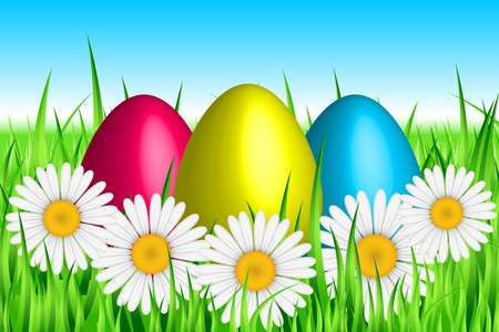 yellow daisy: Vector Easter background