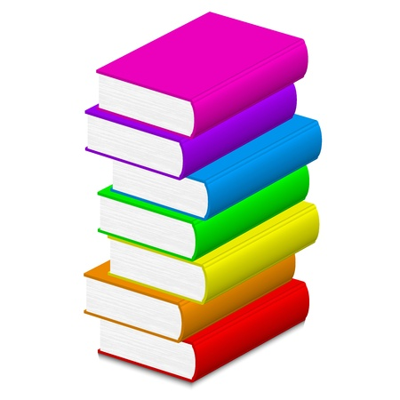 accumulation: Vector illustration of colorful books