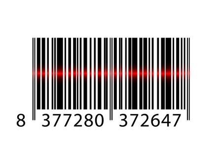 Code à barres Vecteur avec un faisceau laser Vecteurs