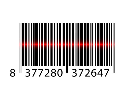 Vector barcode with laser beam Vector