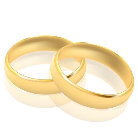 compromiso: Ilustraci�n vectorial de anillos de oro Vectores