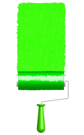 tinting: Vector illustration of paint rollers