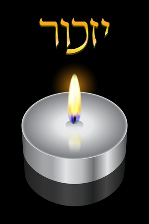 genocide:  Remembrance  - Vector background  Hebrew