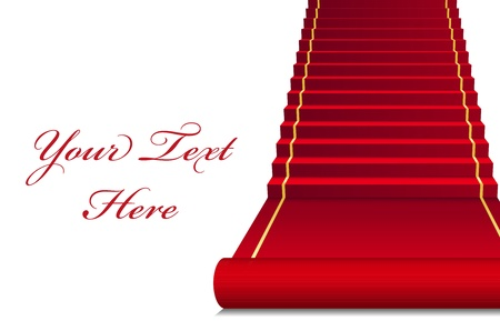red rug: Vector background with red Carpet