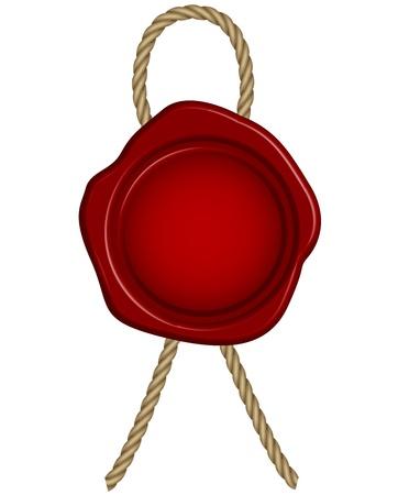 Ilustración vectorial de sello de cera roja