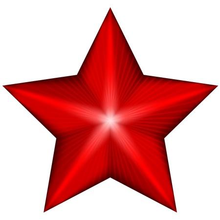 ster: Vector illustratie van rode ster Stock Illustratie