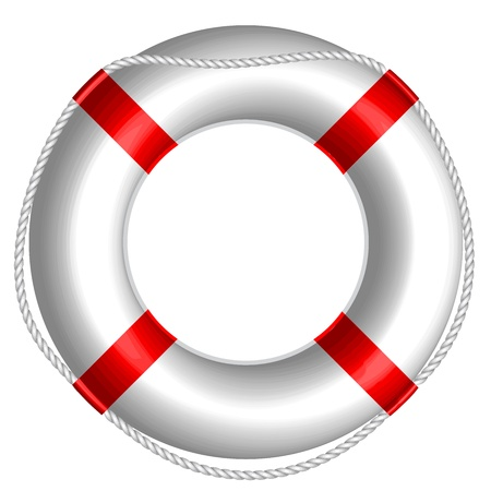 ring buoy: Vector illustration of Life Buoy