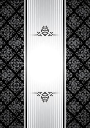 cadre noir et blanc: noir et blanc vintage background