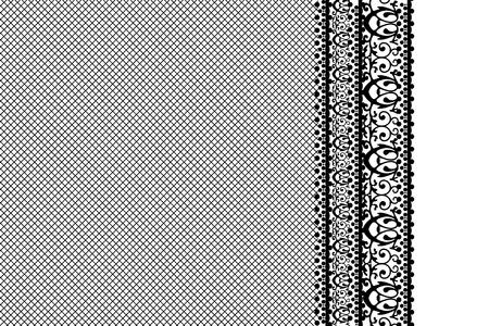 ornamentations: pizzo sfondo nero Vettoriali