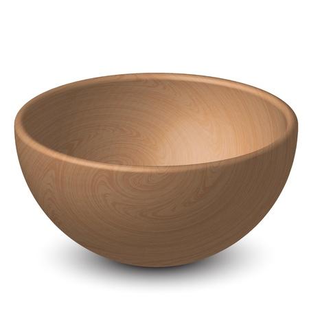 ciotola: illustrazione della ciotola di legno