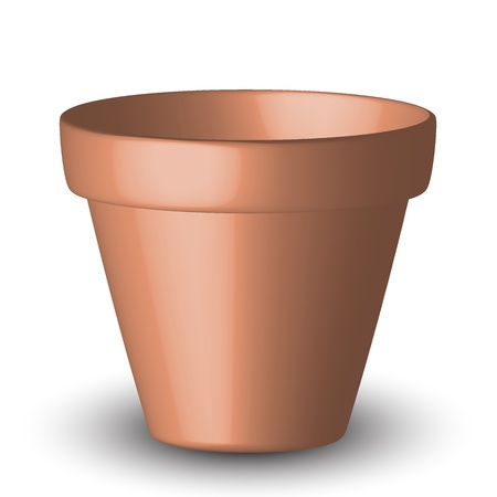 clay pot: illustration of flowerpot