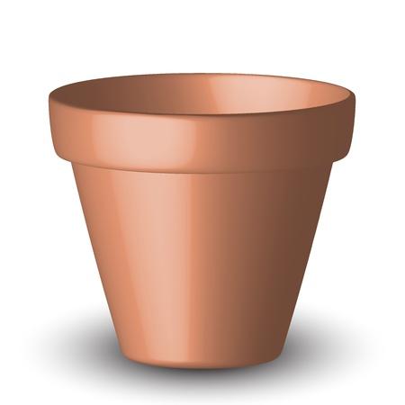 ollas de barro: ilustración de la maceta Vectores