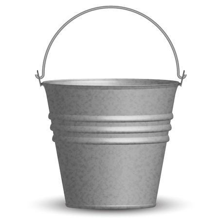 emmer water: illustratie van de emmer