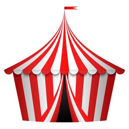 cirque: illustrazione di tendone da circo