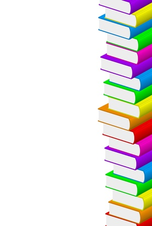 illustration of colorful books Vector