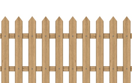 white fence: illustration of wooden fence Illustration