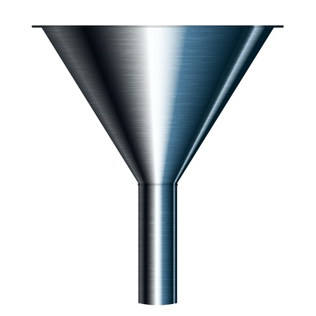 ilustración de embudo Ilustración de vector