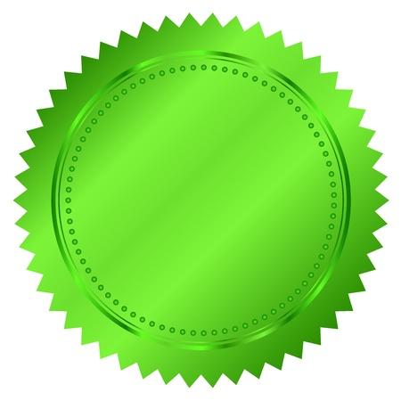 Illustration of green seal Vector