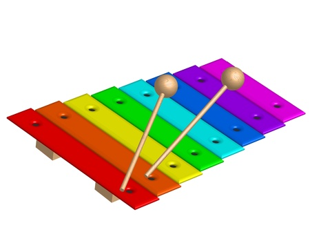 illustration of xylophone Vector