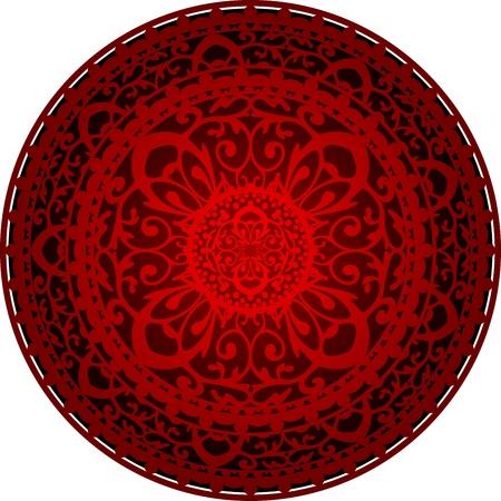 floral carpet: Illustration of oriental rug Illustration