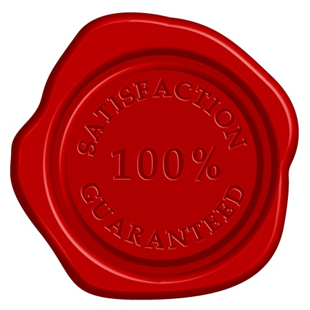 seal wax: illustration of guarantee stamp Illustration