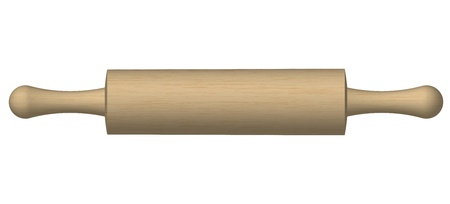 bake: Illustration of a rolling pin