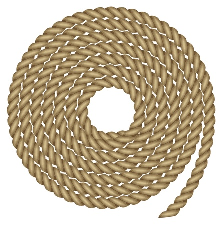 spiral cord: illustration of rope