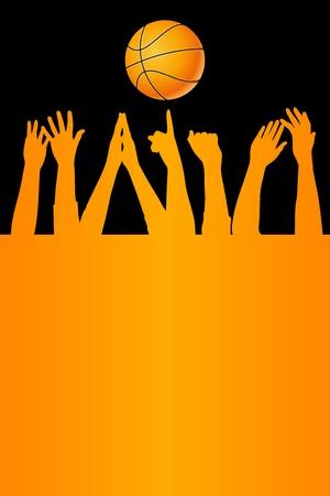 winning team: Vector basketball background