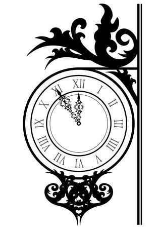 reloj antiguo: Ilustración del vector de reloj de la calle