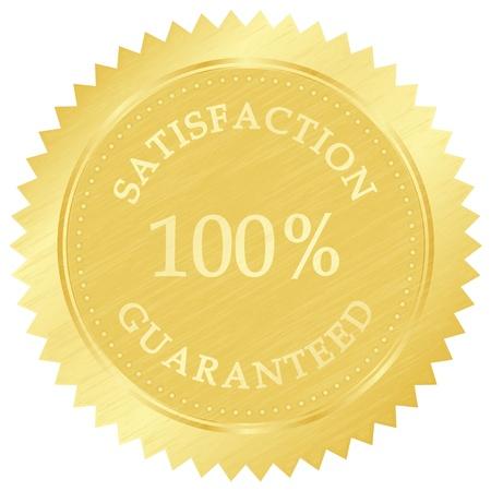 Vector illustratie van gouden garantie stempel