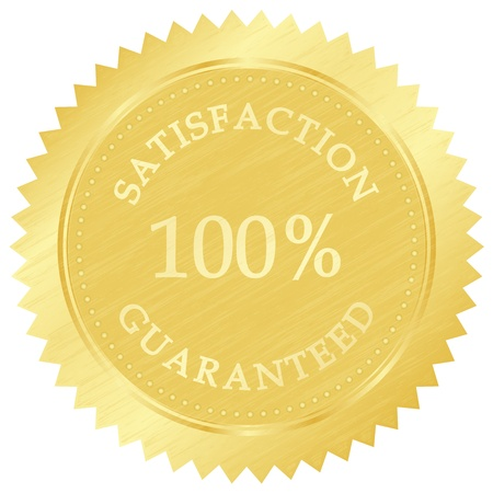 Vector illustration of gold guarantee stamp Vector