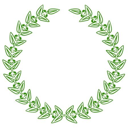 Vector illustratie van groene lauweren
