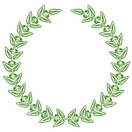 Vector illustration of green laurels