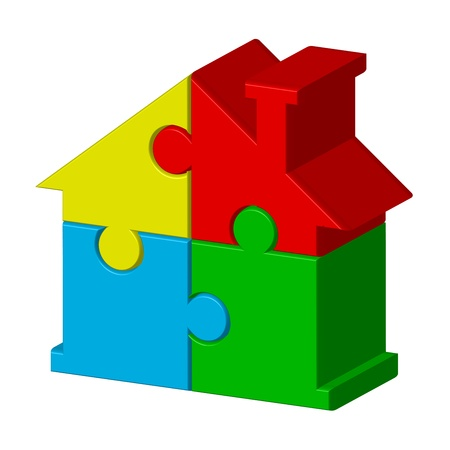 house property: House from puzzles Illustration